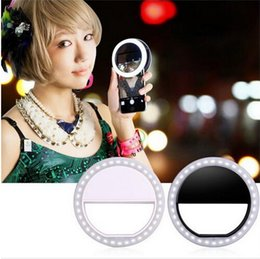 Wholesale 36 LEDS Ring Flash Selfie Led Light for iPhone Samsung Smartphone Mobile Phone Round Ring Fill Light for Phone
