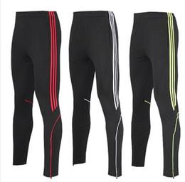 Men's football pants leg football pants received training pants male feet Slim pants sports pants breathable quick-drying pants running fitn
