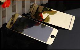 Promotion plaque d'écran Pour iPhone6 6plus iPhone 5 5S 4 4S Avant et arrière Film de verre trempé de couleur Protecteur d'écran Membrane Plaquage de couleur Antidéflagrant