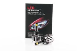 Wholesale Super Bright Auto Car COB H4 H L Replacement LED Headlight Kit Bulb H4 Hi Lo Beam W Xenon White G40