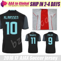 Wholesale Ajax Jerseys Ajax FC Soccer Jerseys Camisa KLAASSEN FISCHEA BAZOER MILIK Jerseys Football Shirts