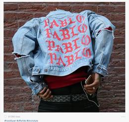 Denim Jacket Kanye West I FEEL LIKE PABLO Denim Coats M-2XL free shipping