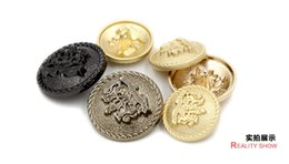 freeshipping British clothing buttons High-end men's and women's clothes coat buttons Classic double lion metal buttons 20pcs lot