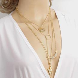 Acheter en ligne Anges ailes-L'expédition Collier multicouche pendentif gratuit Bijoux Hot Femmes Mode Angel Wings Flèche Colliers Big Girl Bijoux Lady