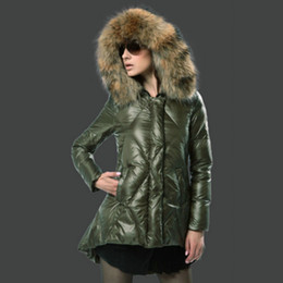 French Brand Women Down Jacket Real Fur Collar Coat White Duck Down Round Hem Women Clothing