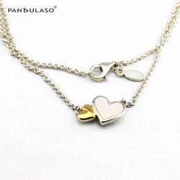 Luminous Hearts Necklace With 14k Gold Silver Woman New Charm Wholesale Jewelry Necklace Summer New 45cm Jewelry