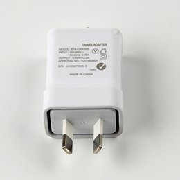 Wholesale V A AU Plug With insulation Wall Charger AC Adapter For Samsung Galaxy S5 S4 i9500 NoteII note N7100