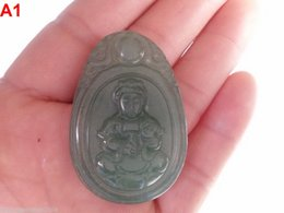 Wholesale 100% Natural Hand-carved Dongling Jade Pendants - Kwan-yin