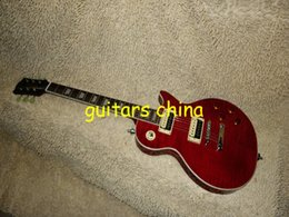 NEW Custom Red Slash Electric Guitar IN Red one piece neck OEM guitar free shipping