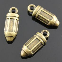 Wholesale 60pcs mm Antique Bronze Plated D Pencil Charms