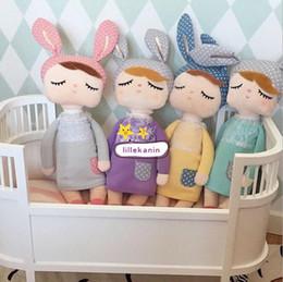 Wholesale Cute Metoo Angela Rabbit Dolls Cartoon Animal Design Stuffed Babies Plush Doll for Kids Birthday Christmas Gift Children Toy