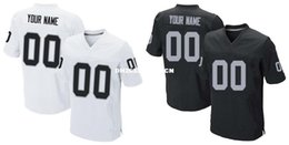 Wholesale HOT SALE Men s OKL Raiders Custom Elite Football Jerseys High Quality Stitched Any Name Number You Decide Two Colors Allowed