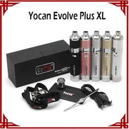 Original Yocan Evolve Plus XL Kit 1400mAh Wax Pen Wax Vaporizer 5 Color Coil Cap built with Dab Tool