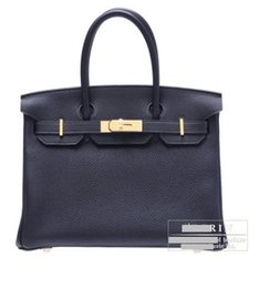 Wholesale Hot sale bag Indigo blue Togo leather Gold hardware