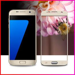 Promotion écran tactile pour samsung 0.26MM 2.5D Nouveau écran tactile de verre pour Samsung Galaxy S7 G9300 surface courbe pleine couverture de film de verre trempé