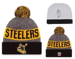 Wholesale Cheap New Fitted Caps - 2016 New Cheap Steelers Beanies Steelers Knit Hats Team Series Knitted Hat Hip Hop Winter Warm Street Hat