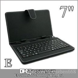 E OEM Leather Case with Micro USB Interface Keyboard for 7 inch MID Tablet PC A-JP