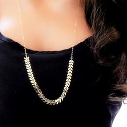 Brass Chevron Necklace Fishbone Chain Necklace V Arrow Necklace Geometric Chevron Chain