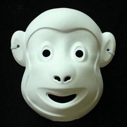 Cool Unpainted DIY Paper Party Masks Kid Women Men Face Various Animal Lion Bunny Elephant Fancy Dress Mask