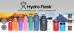 Wholesale 2016 Best Sale Hydro Flask oz Vacuum Insulated Stainless Steel Water Bottle Wide Mouth Cap Sports Hydration Gear Cup