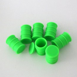 Wholesale Assorted colors silicone essential oil barrel ml butane hash oil silicone container hight quality with best price