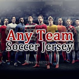 Wholesale 1617 Soccer Jerseys Any Team all in one AC Milan camisetas de futbol Football Shirts Man shirts kids woman jacket sweater training suits