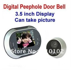 Wholesale inch Display Digital Video Peephole Door Bell Door Viewer MP Night Vision Camera Can take picture