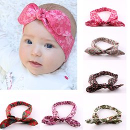 Europe Fashion Infant Headband Floral Knot Hair Bow Head Band Girl Baby Children Headwrap Hairbands Kids Elastic Headwear Hair Accessories