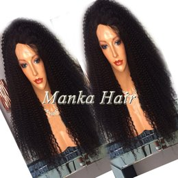 African Amercian kinky curly Malaysian Human Hair Full Lace Wig 8A Top Quality Wet And Wavy Lace Front Wig Natural Hairline