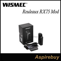 Wismec Reuleaux RX75 Mod 75W Box Mod Supports VW Bypass TC-Ni TC-Ti TC-SS TCR Mode 1 18650 Hidden Fire Key Circuit Protection with Amor Mini