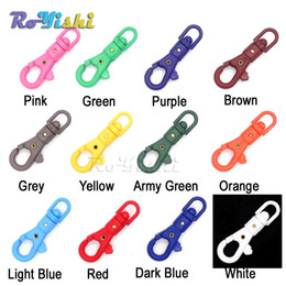 100pcs lot 1 4'' Swivel Snap Colorful Plastic Hook For Weave Paracord Lanyard Buckles Backpack Webbing