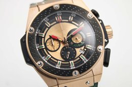 Wholesale factory supplier Luxury Brand watches men big bang king power World Boxing gold watch quartz chronograph leather Watch Mens dress Watches