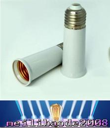 Wholesale E27 à E27 Adaptateur Socket Titulaire Lumière ampoule de la lampe Branchez Extender étendre Extension Support de lampe matériau mm épreuve du feu Envoi gratuit MYY