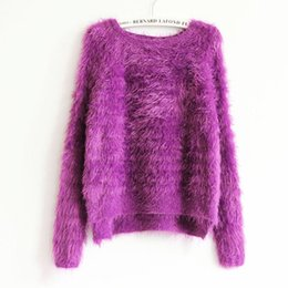 Wholesale-Kawaii Sweater 2016 Fashion Women Knitted Mohair Asymmetrical Baggy Sweaters Oversized Winter Autumn Female Cute Pink Pullovers