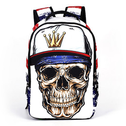 Wholesale Direct Selling New Authentic Youth Tide Backpack Skeleton Pattern Outdoor Travel Bag Kinds Of Styles
