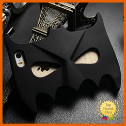 Wholesale Hot D Cute Batman Mask Soft Silicone Phone Case Cover for iphone S SE S Plus Samsung S5 S6 A7