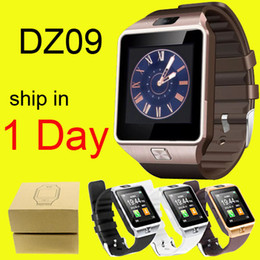 Wholesale Sports Smart Watch DZ09 Mini Phone Healthy Wristwatch With Camera MP quot Screen SMS GSM DHL Free OTH110