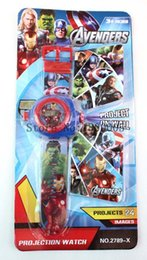 Wholesale The Avengers Project Images Projection Watch Hot Sale Cartoon Projects On Wall Kids Watches Best Gift For Children C630