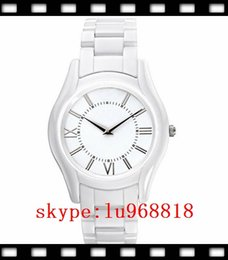 Wholesale TOP QUALITY BEST PRICE New Ladies Super Slim White Ceramic Watch AR1443 Watches CHRONOGRAPH Crystal Quartz Wirstwatches Certification