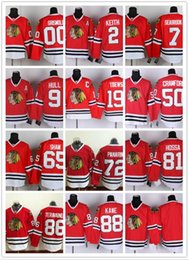 Wholesale NHL Chicago Blackhawks Jonathan Toews Kane Panarin CRAWFORD Hull Red Black White Gray Hockey Jerseys Ice Stitched Mix Order