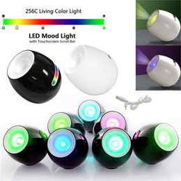 creative 256 colors led Light Living Color Changeable Mood Light led with Touchscreen Scroll Bar Lamp For Christmas Wedding MTY3