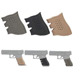 Wholesale 10 Pistol hollow type soft Rubber Grip Glove Tactical Anti Slip Glock