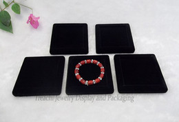 Wholesale Fashion High Quality Jewelry Display Black Velvet Flat Small Tray Blank Holder Case For Bangle Bracelet Anklet Watch Display