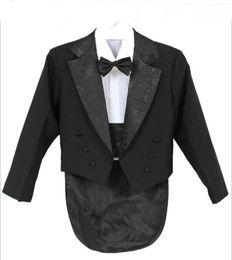 Wholesale Shirts For Boys Jacket - Elegant Kid Boy Wedding Suit Boys' Tuxedo Boy Blazers Gentlemen Boys Suits For Weddings (Jacket+Pants+Tie+Girdle+Shirt)