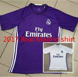 Wholesale Best quality RONALDO home white away purple women short sleeve BALE KROOS SERGIO RAMOS woman SHIRT