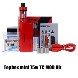 Wholesale Nuevo kit de arranque Kanger Topbox mini TC Kanger Caja de control de temperatura KBox w Sub Mods SSOCC Toptank Subtanque Mini Tank Clone Vapor Kit