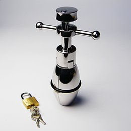 A050 stainless steel anal stretcher can open and close anal plugs large anal lock anal chastity