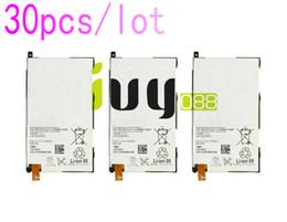 30pcs lot Real Original 2300mAh LIS1529ERPC Replacement Battery For Z1 mini D5503 Z1 Compact M51w SO-04F Batteries