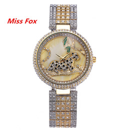 Wholesale 2016 Miss Fox New Fashion Trend Jewelry Button Women Watches Quartz Alloy And Glass Material With Waterproof And Aesthetic Effect
