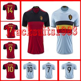 Wholesale 2016 Bélgica Jerseys Camiseta LUKAKU HAZARD VERMAELEN Kompany DE BRUYNE Copa Europea Mayoristas temporada de rugby